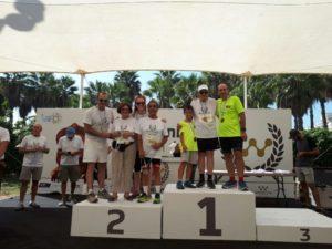 אמיר אורלי בנו ואביו זוכים באתגר הטריאתלון